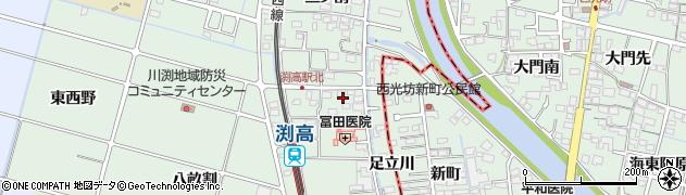愛知県愛西市渕高町(四ノ割)周辺の地図