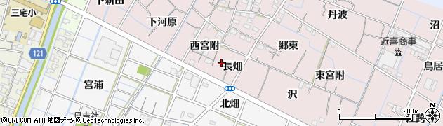 愛知県稲沢市今村町(長畑)周辺の地図