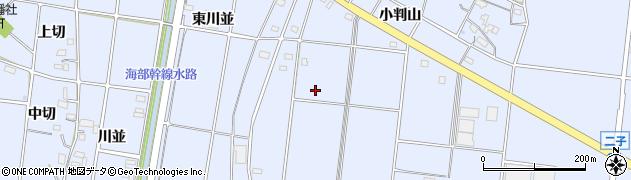 愛知県愛西市二子町(小判山)周辺の地図