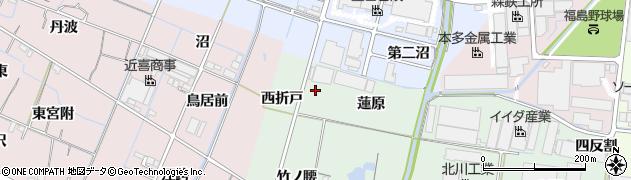 愛知県稲沢市目比町(西折戸)周辺の地図