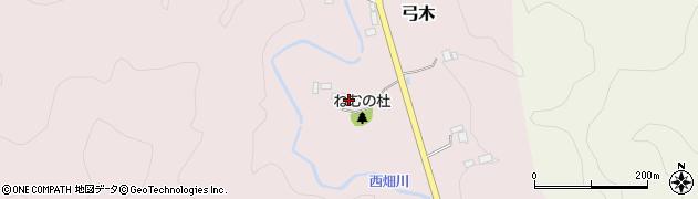 千葉県大多喜町(夷隅郡)弓木周辺の地図
