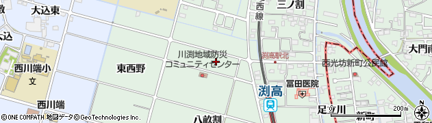 愛知県愛西市渕高町(権左)周辺の地図
