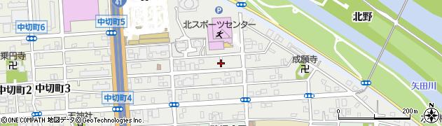 愛知県名古屋市北区成願寺周辺の地図
