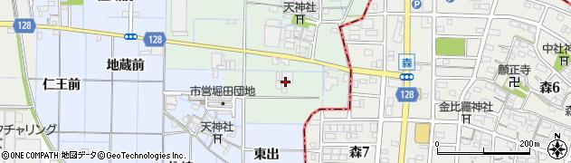 愛知県稲沢市中之庄町(前田)周辺の地図