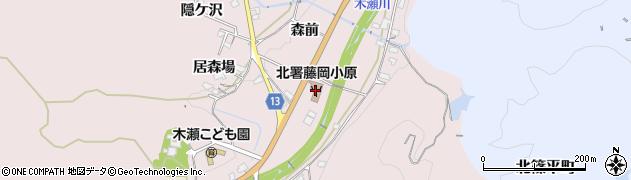 愛知県豊田市木瀬町(桧本)周辺の地図