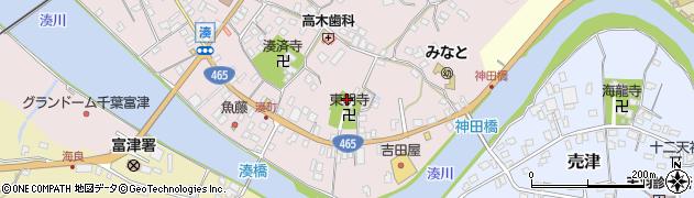 東明寺周辺の地図