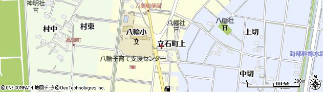 愛知県愛西市立石町(上)周辺の地図