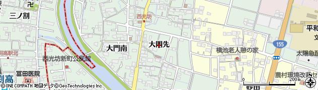 愛知県稲沢市平和町西光坊(大門先)周辺の地図