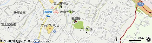 直至院周辺の地図