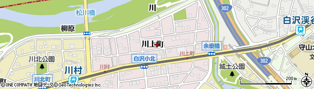 愛知県名古屋市守山区川上町周辺の地図
