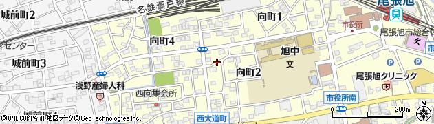 愛知県尾張旭市向町周辺の地図
