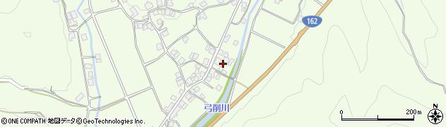 京都府京都市右京区京北上弓削町(上ノ町)周辺の地図