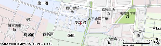 愛知県稲沢市西溝口町(第二沼)周辺の地図