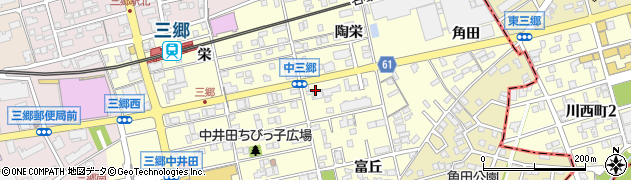 愛知県尾張旭市三郷町周辺の地図