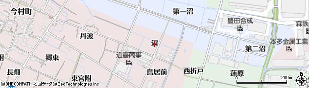 愛知県稲沢市今村町(沼)周辺の地図