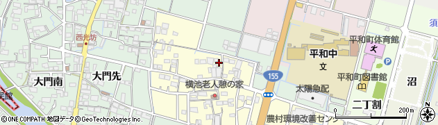 愛知県稲沢市平和町横池周辺の地図