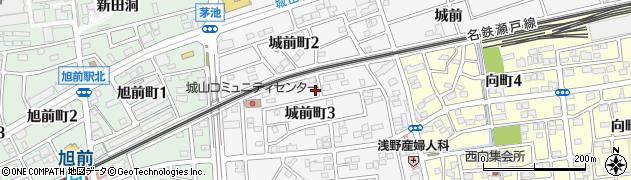 愛知県尾張旭市城前町周辺の地図