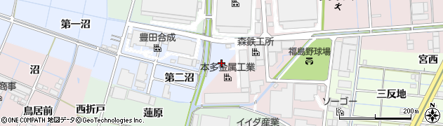 愛知県稲沢市西溝口町(第三沼)周辺の地図