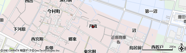 愛知県稲沢市今村町(丹波)周辺の地図