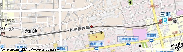 愛知県尾張旭市北原山町(大久保見)周辺の地図