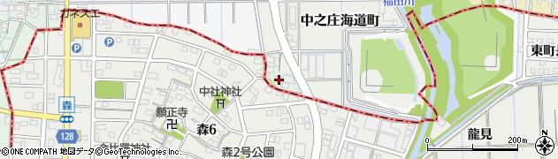 愛知県稲沢市中之庄町(海道附)周辺の地図