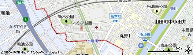 愛知県名古屋市西区新木町周辺の地図