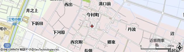 愛知県稲沢市今村町周辺の地図