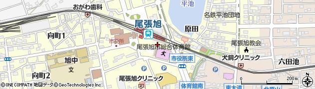 愛知県尾張旭市東大道町周辺の地図