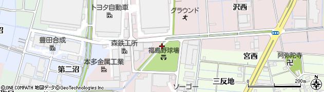 愛知県稲沢市福島町(沼角田)周辺の地図