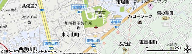 愛知県瀬戸市城屋敷町周辺の地図