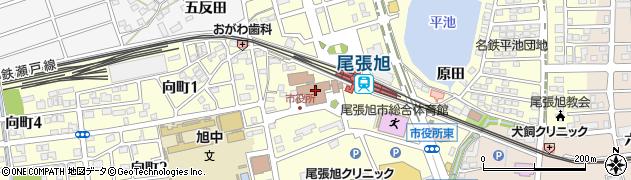 愛知県尾張旭市周辺の地図