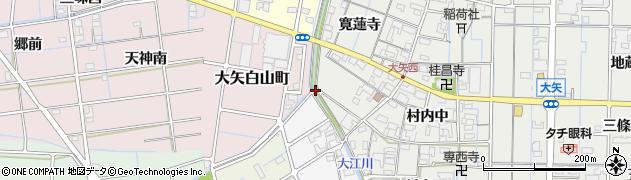 愛知県稲沢市大矢町(東大堀)周辺の地図