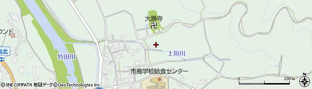 兵庫県丹波市市島町上垣周辺の地図