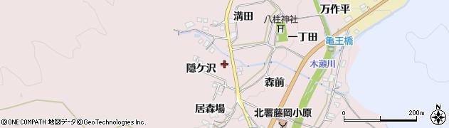 愛知県豊田市木瀬町(隠ケ沢)周辺の地図