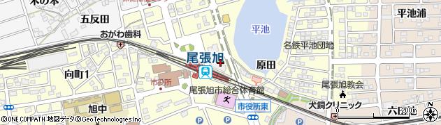 愛知県尾張旭市東大道町(原田)周辺の地図