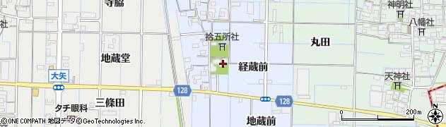 愛知県稲沢市七ツ寺町周辺の地図