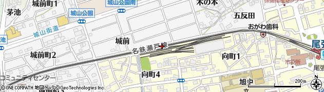愛知県尾張旭市城前町(石川)周辺の地図