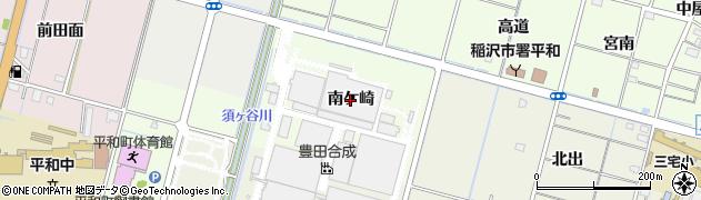 愛知県稲沢市平和町中三宅(南ケ崎)周辺の地図