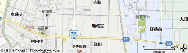 愛知県稲沢市大矢町(地蔵堂)周辺の地図
