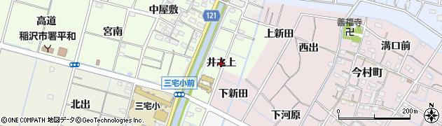 愛知県稲沢市平和町中三宅(井之上)周辺の地図