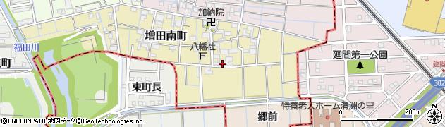 愛知県稲沢市増田南町周辺の地図