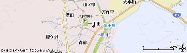 愛知県豊田市木瀬町(一丁田)周辺の地図