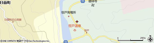 愛知県豊田市笹戸町(畷)周辺の地図
