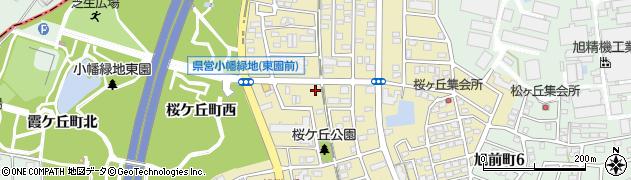 愛知県尾張旭市桜ケ丘町周辺の地図