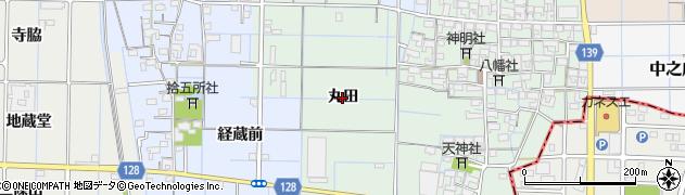 愛知県稲沢市中之庄町(丸田)周辺の地図