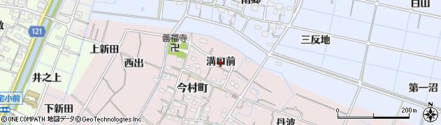 愛知県稲沢市今村町(溝口前)周辺の地図