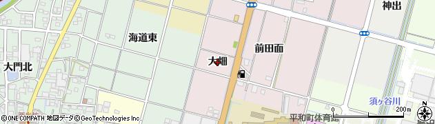 愛知県稲沢市平和町平池(大畑)周辺の地図