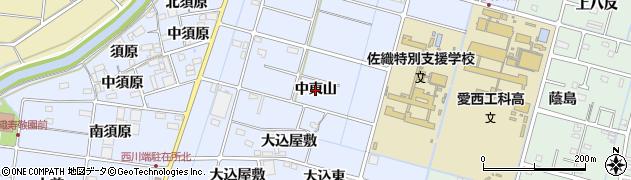 愛知県愛西市西川端町(中東山)周辺の地図