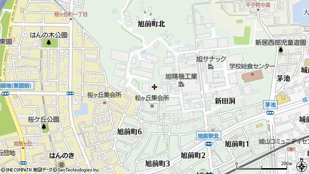 〒488-0854 愛知県尾張旭市旭前町西新田の地図