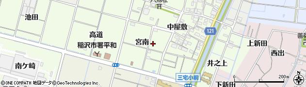 愛知県稲沢市平和町中三宅周辺の地図